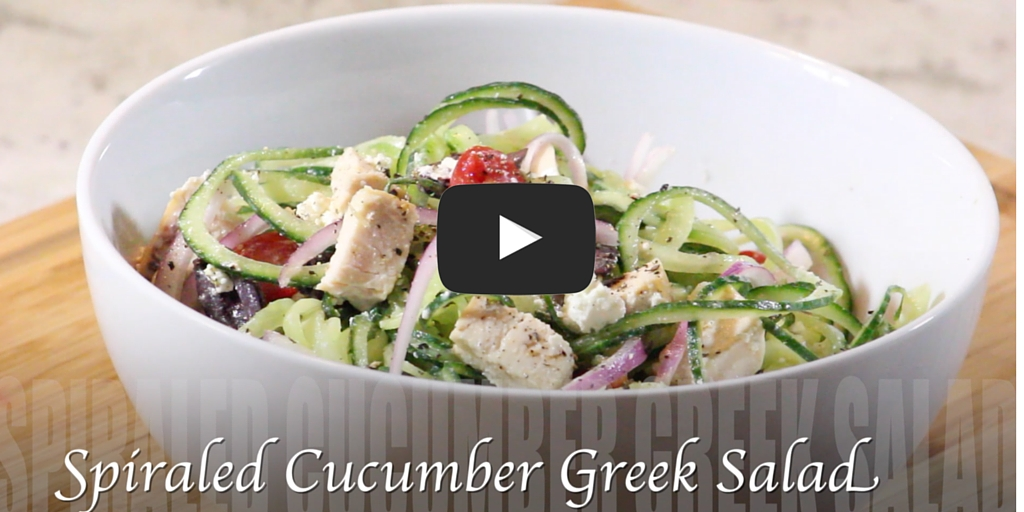 VIDEO: Spiraled Cucumber Greek Salad