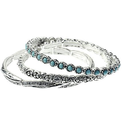 what to give the woman who has everything, antique-silver-turquoise-bangles