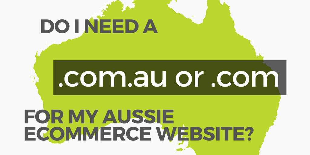 website tld banner for australian ecommerce store