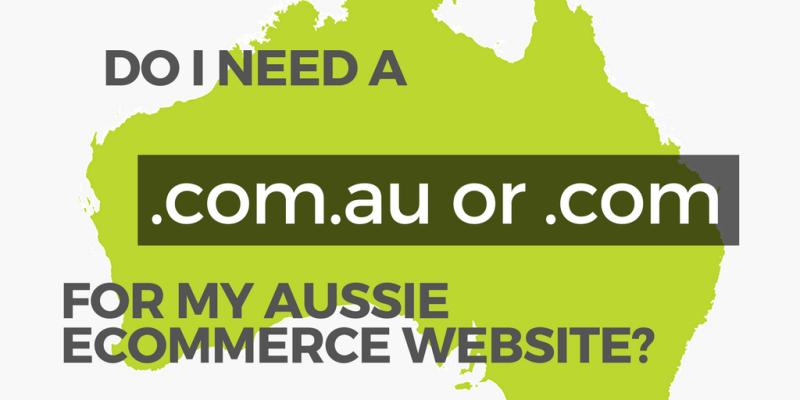 website tld banner for australian ecommerce store