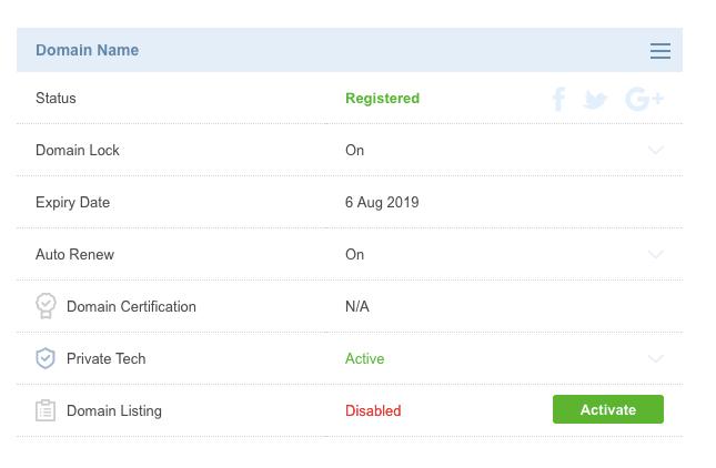 crazy domains domain information