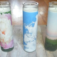 DIY Custom Photo Candles