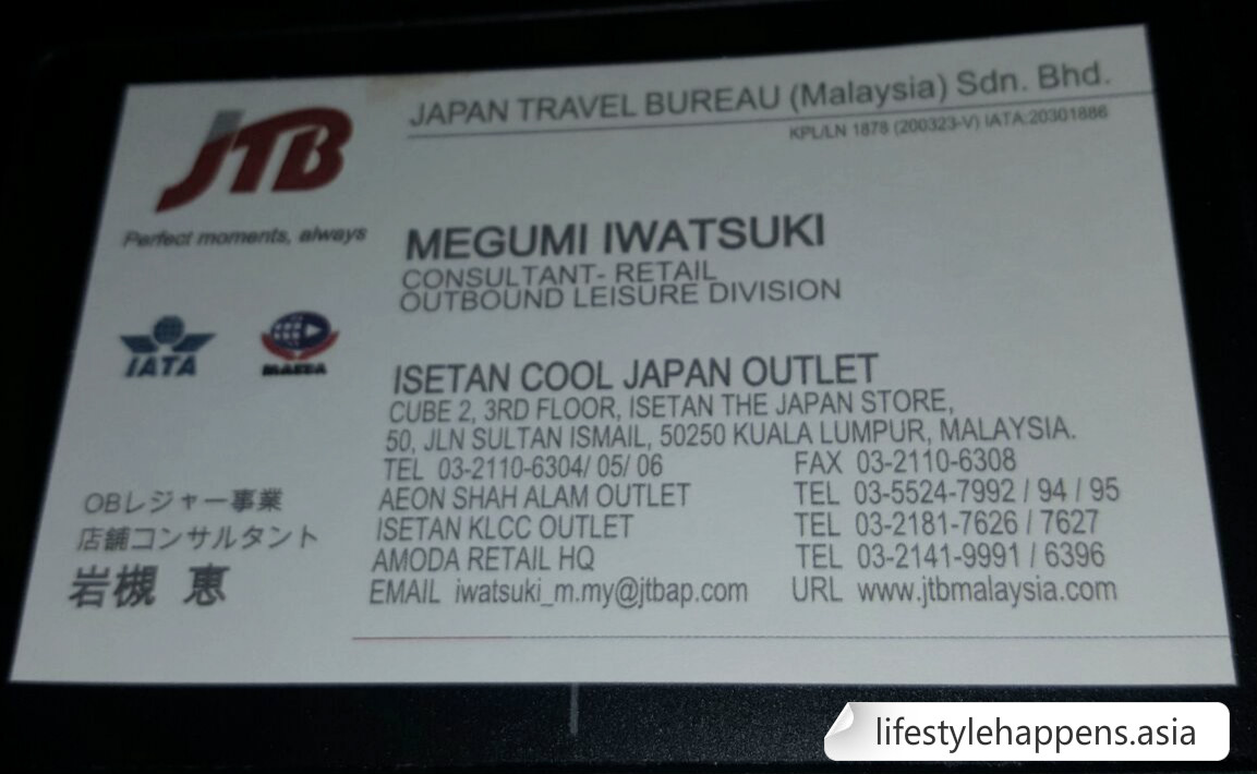 JTB Name Card, emails and phone can be seen there