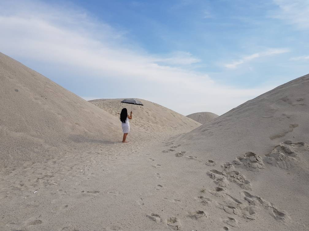 How to get to the sand dunes in Pantai Klebang near Melaka