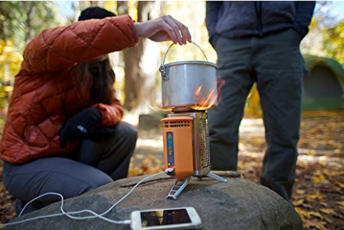 Biolite camping Stove that generates electricity