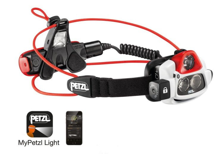 A headlamp that adjusts its brightness automatically to the environment.
