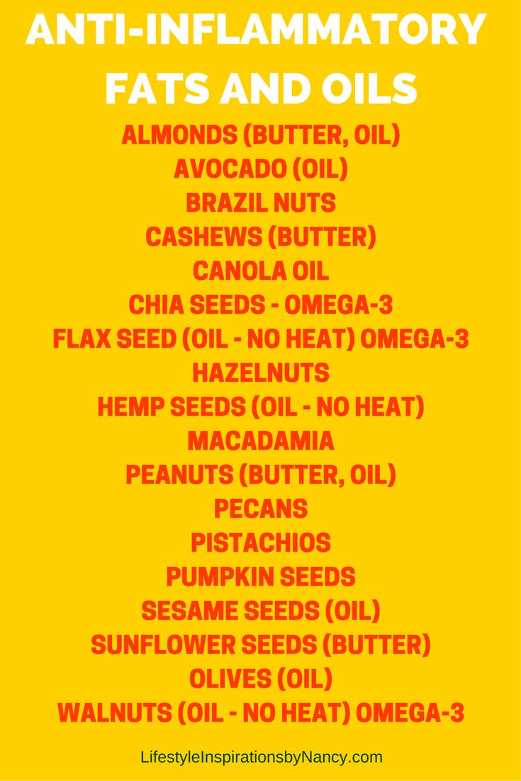 Anti-inflammatory fats