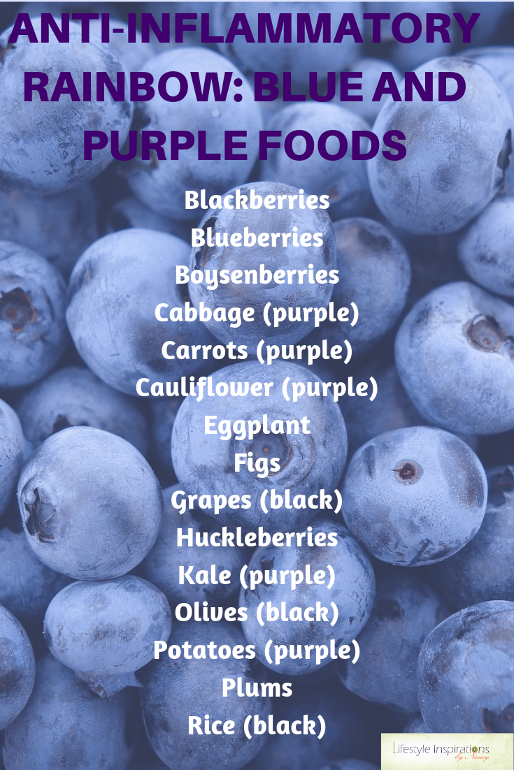 blue and purple foods