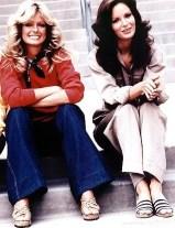 Farrah Fawcett and Jaclyn Smith