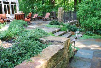 barnstone, curbstone steps