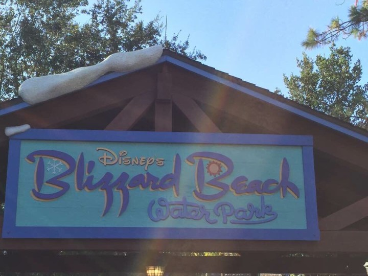 Chilling at Blizzard Beach!