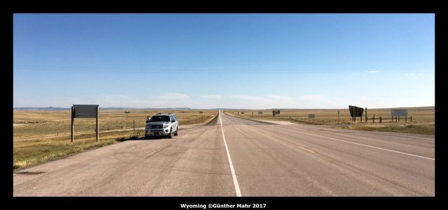 USA Road Trip Quer Etappen Wyoming