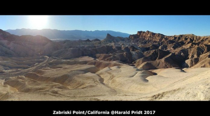 USA Road Trip Quer Etappen California Zabriski Point