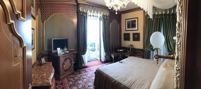 Bedroom of the Suite at the Grand Hotel des Boromees Stresa Italy