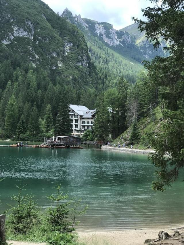 The Lake Hotel Pragser See picture taken from the opposite shore