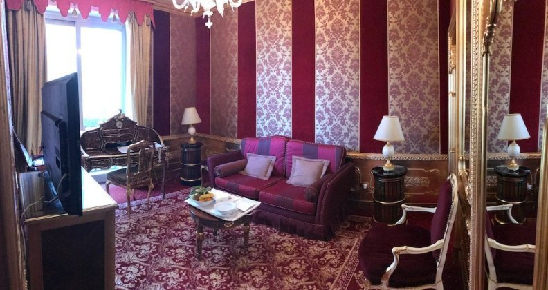 Salon der Suite Grand Hotel des Iles des Borromees