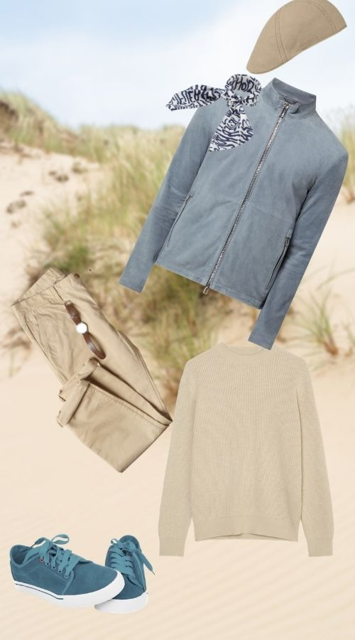 Herrenmode Highlights April Spaziergang am Strand