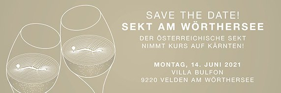 Save the Date Sekt am See 2021
