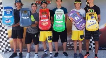 """Favij e i Riders di VR46: si sfidano con i bolidi di """"Cars 3"""" (video racconto)"""