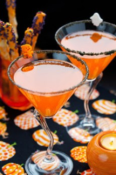 halloween Jack O'Lantern cocktail
