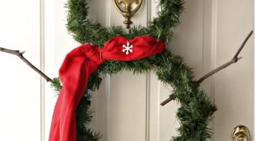 Ghirlanda natalizia fai da te: il pupazzo di neve in 5 semplici mosse