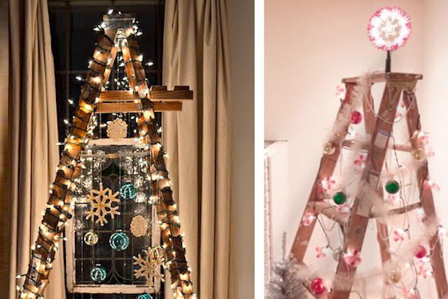 Un'idea adatta anche per i più pigri, quella di realizzare un albero di Natale non convenzionale. Come? Basta una scala a forbice, delle lucine e un po' di fantasia. Farlo e disfarlo sarà un gioco da ragazzi, ma non per questo avrete un albero meno bello.
