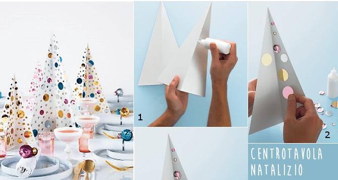 Decorare Tavola Di Natale Fai Da Te : Centrotavola natalizio fai da te albero di natale con paillettes
