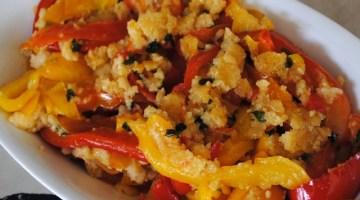 Peperoni in padella: saltati con mandorle e pangrattato