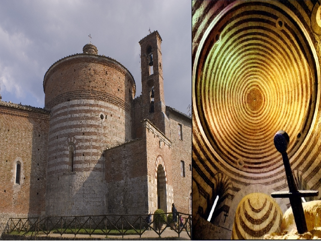 Rotonda di Montesiepi e spada nella roccia di San Galgano