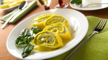 Menù di Pasqua: girelle di pasta con ricotta e spinaci