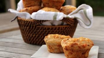 Menù di Pasqua: muffin salati scamorza, prosciutto e champignon