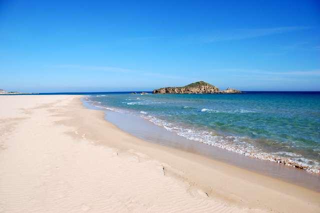 Spiaggia di Su Giudeo (località Capo Spartivento, Cagliari, costa Sud della Sardegna)