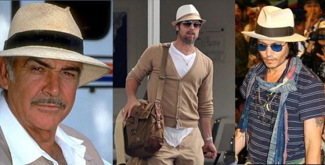 Sean Connery, Brad Pitt, Johnny Depp