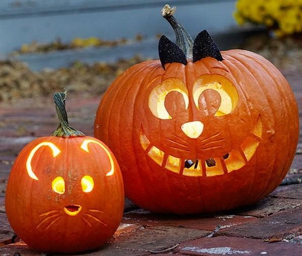 Zucca Halloween Gatto.Zucche Halloween Gatto Topo Lifestyle Made In Italy