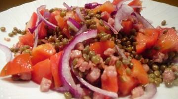 Idee menù Capodanno: insalata gustosa di lenticchie