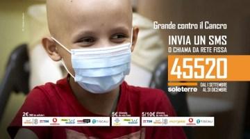 Grande contro il cancro: continua fino al 31 dicembre la campagna promossa da SOLETERRE