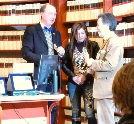 La premiazione di Lisa Bernardini
