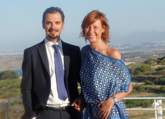 Manolo Mantovani e Federica Brunini