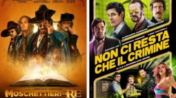 Cinema italiano: Non ci resta che il crimine vs Moschettieri del Re