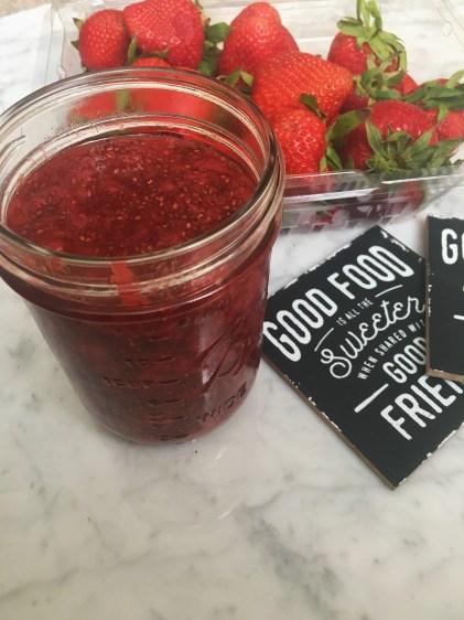 Strawberry chia homemade jam with no sugar added