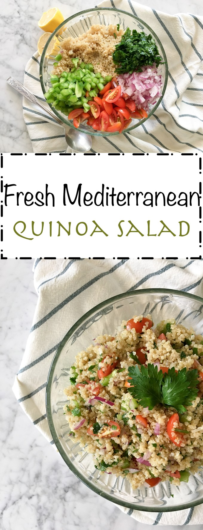 pinterest fresh mediterranean quinoa salad