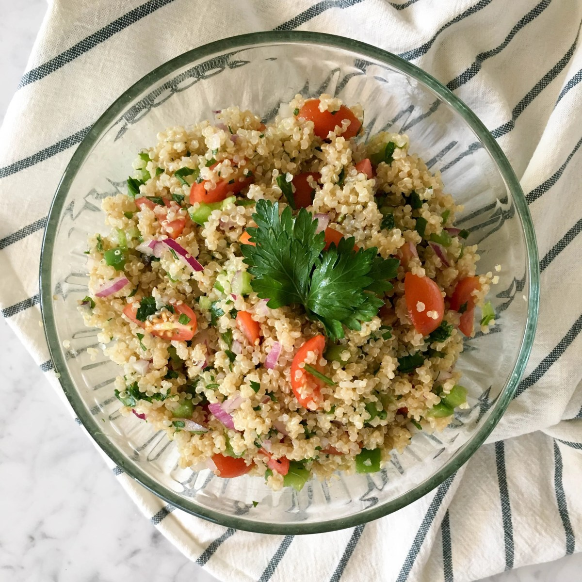 parsley mediterranean quinoa salad
