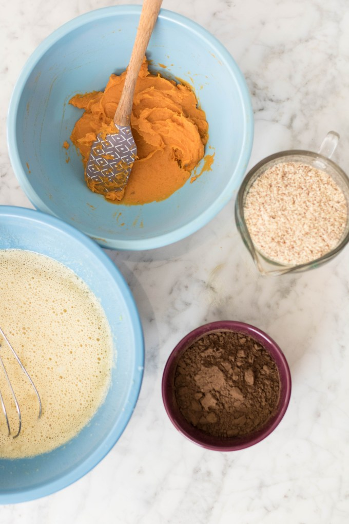 Ingredients for our sweet potato brownies