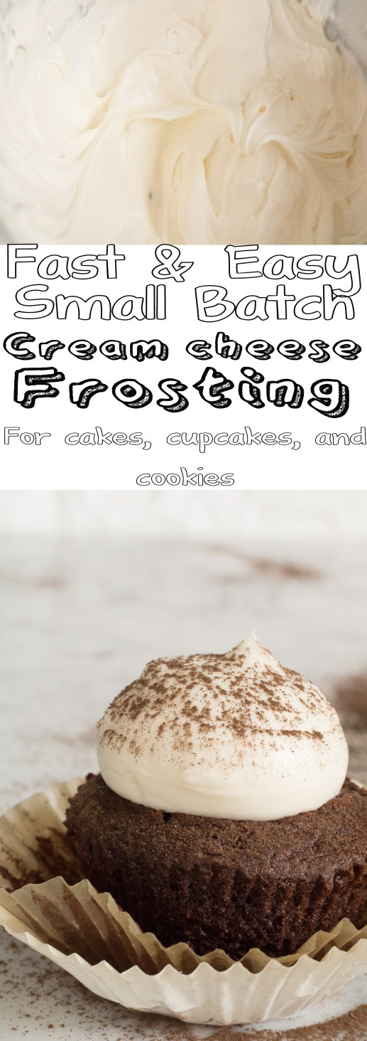 Fast and easy small batch cream cheese frosting photo for pinterest