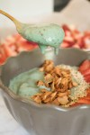 allergy relief spirulina smoothie bowl
