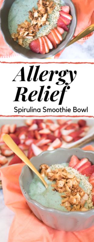 spirulina smothie bowl for allergy relief