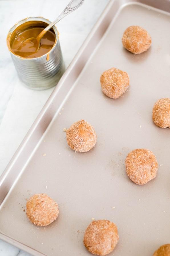 Easy dulce de leche snickerdoodle cookies