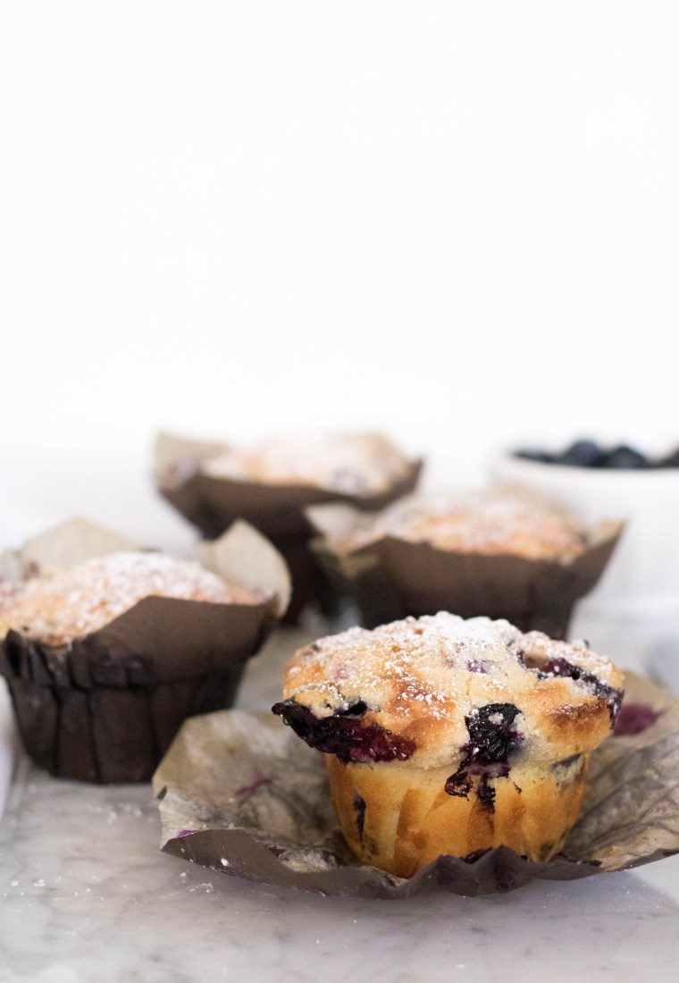 Bakery style Blueberry Muffin recipe with Streusel