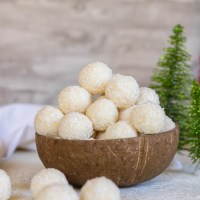 2-Ingredient No bake Coconut Balls