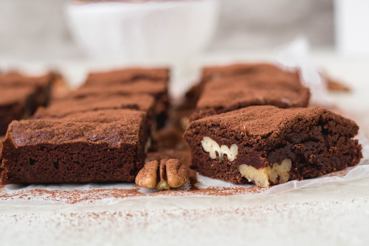 The best chewy brownies with cocoa powder